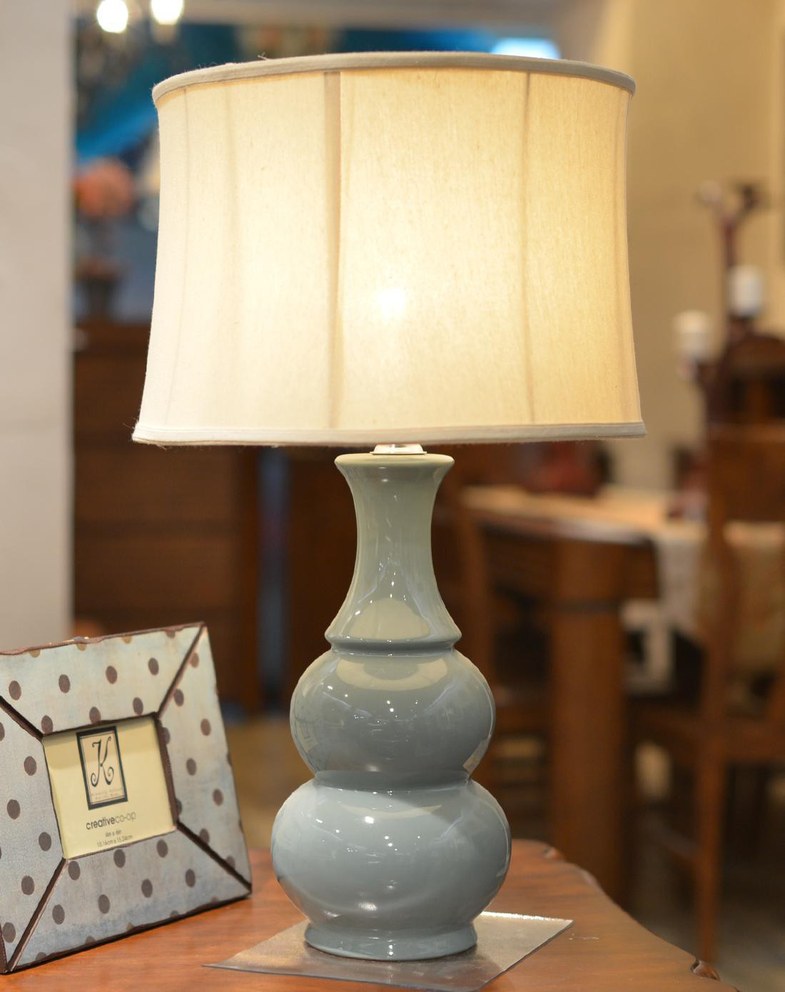朵兰舍doolans现代卧室床头单色釉葫芦台灯tdgw32801
