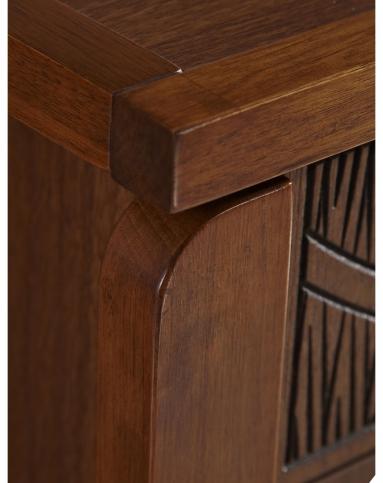 中式木纹四门大容量鞋柜