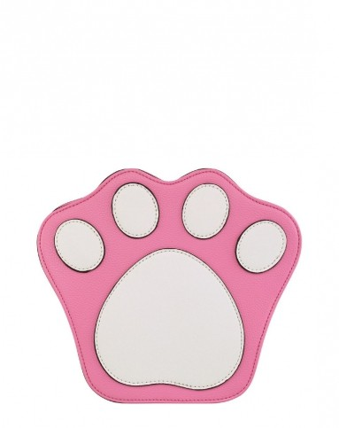 粉色/白色撞色可爱猫爪造型趣味包