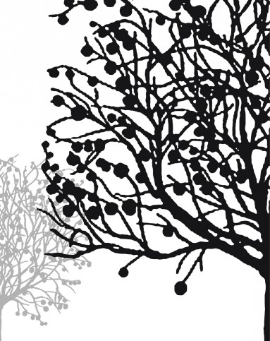 幸运树 黑白抽象风格装饰画