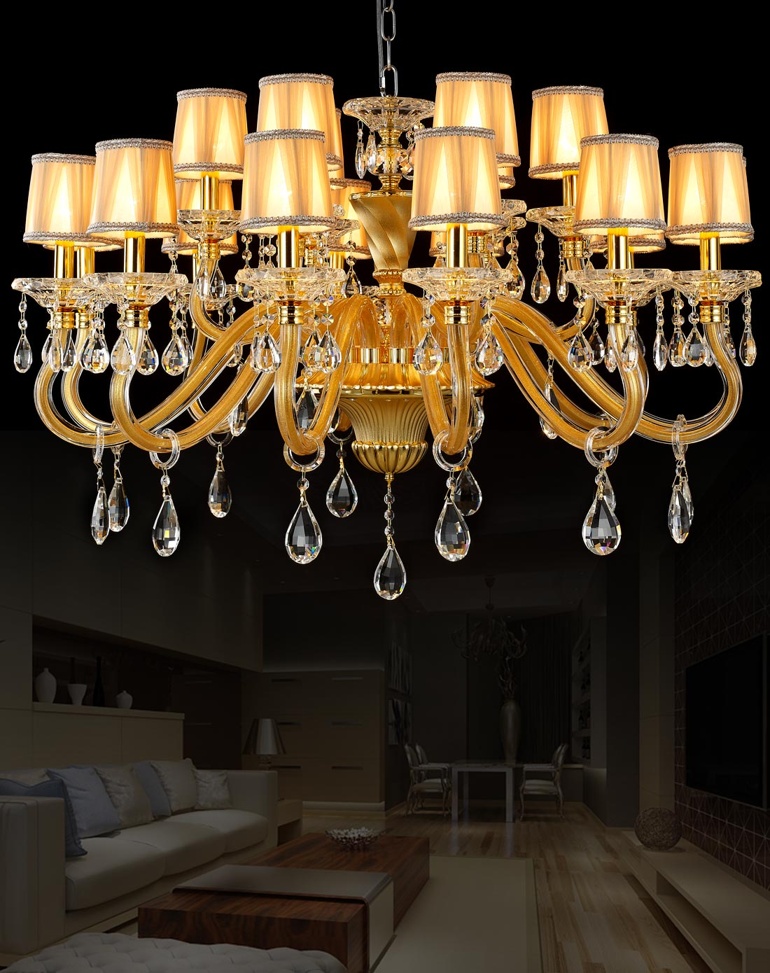 复古欧式水晶吊灯