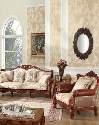 美式实木雕花布艺沙发 组合图片