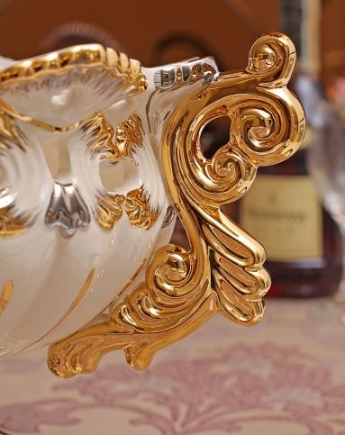 朵兰舍doolans欧式奢华描金陶瓷果盘jda076图片