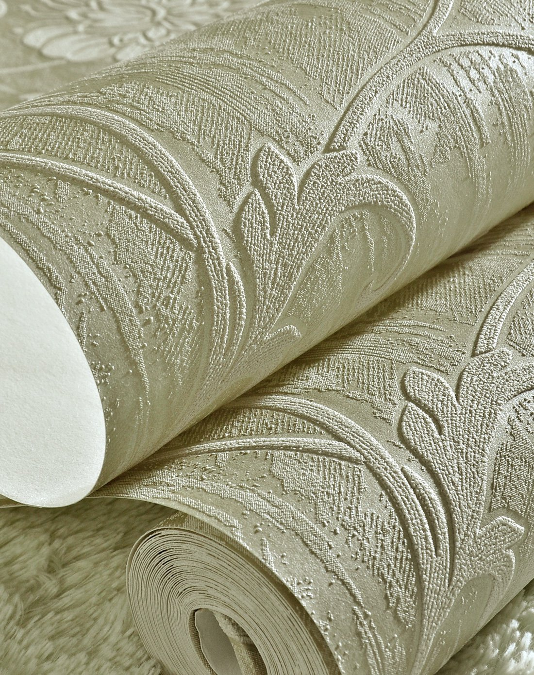 纸尚美学墙纸专场欧式简约风格立体浮雕3d壁纸3d2206