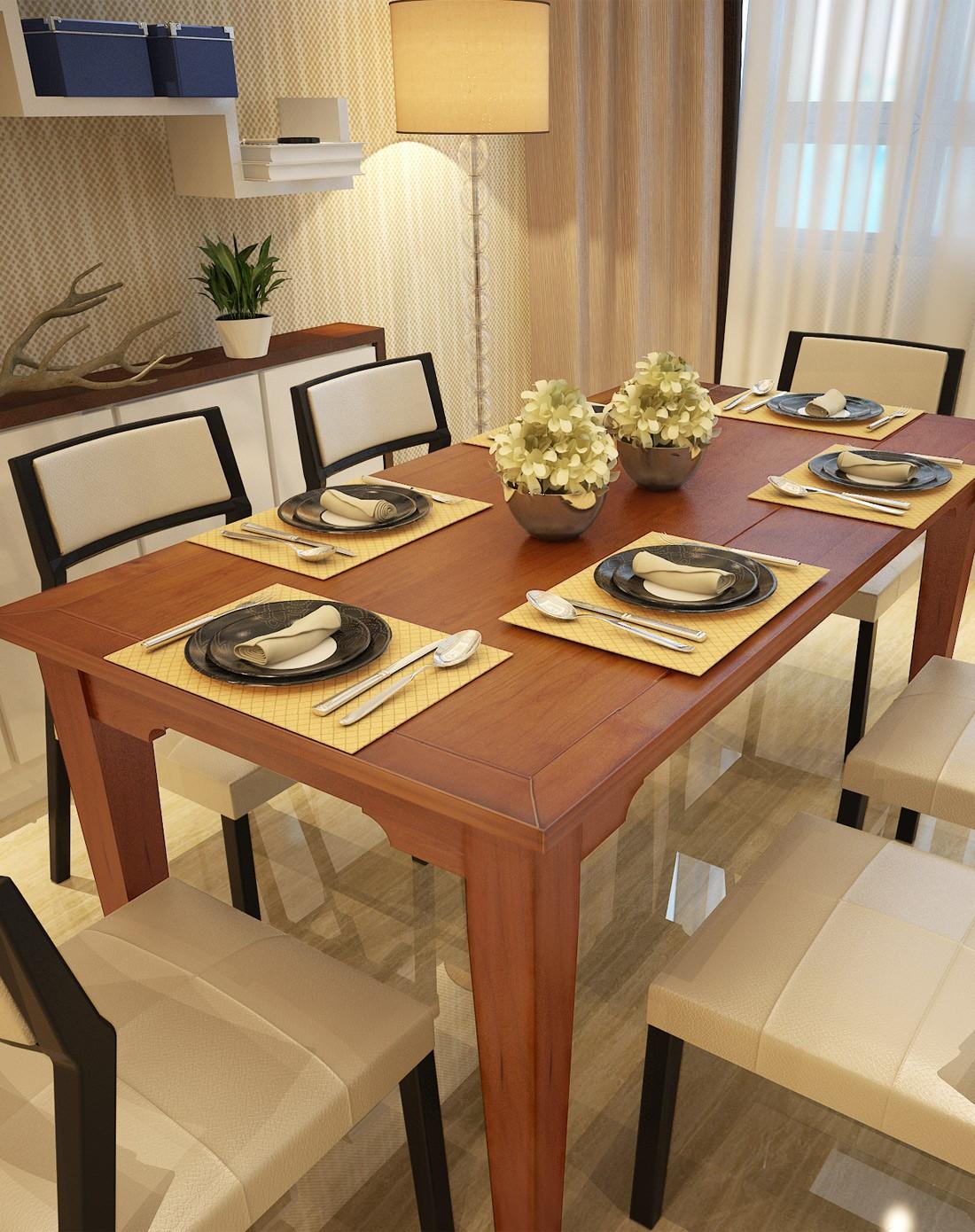 简约现代 实木餐桌1.4m