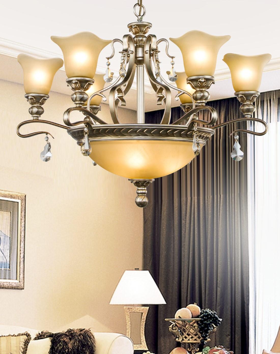 欧式复古吊灯奢华水晶灯客厅灯