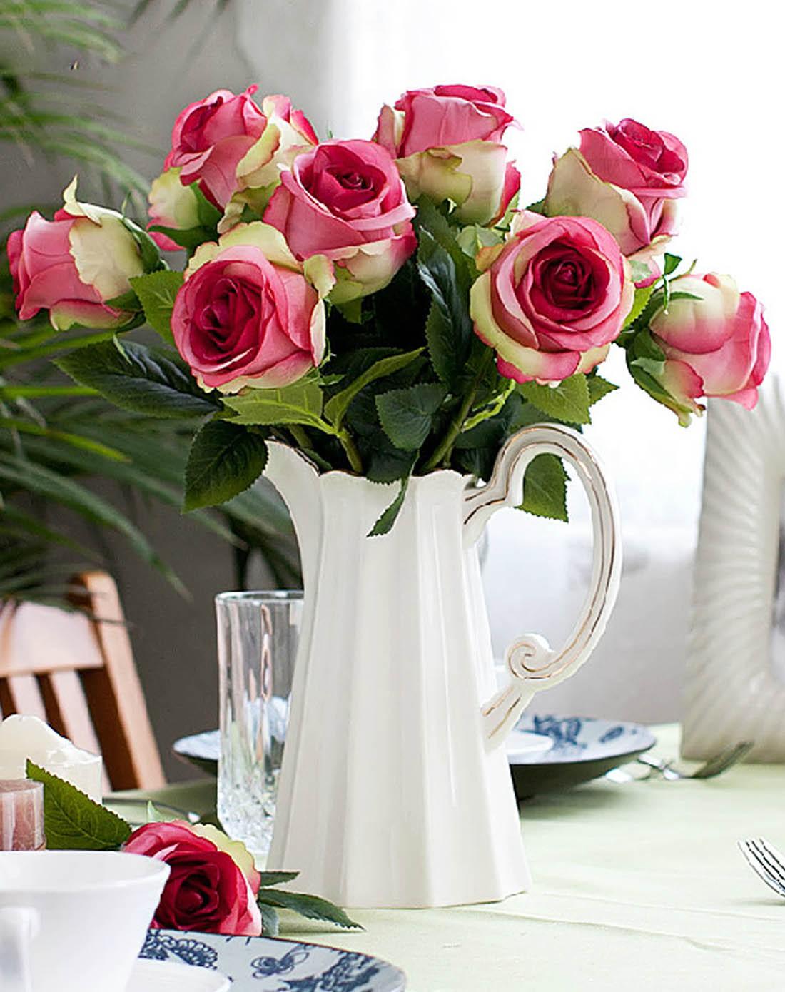 柠檬树家居装饰专场现代欧式泰国玫瑰花f291