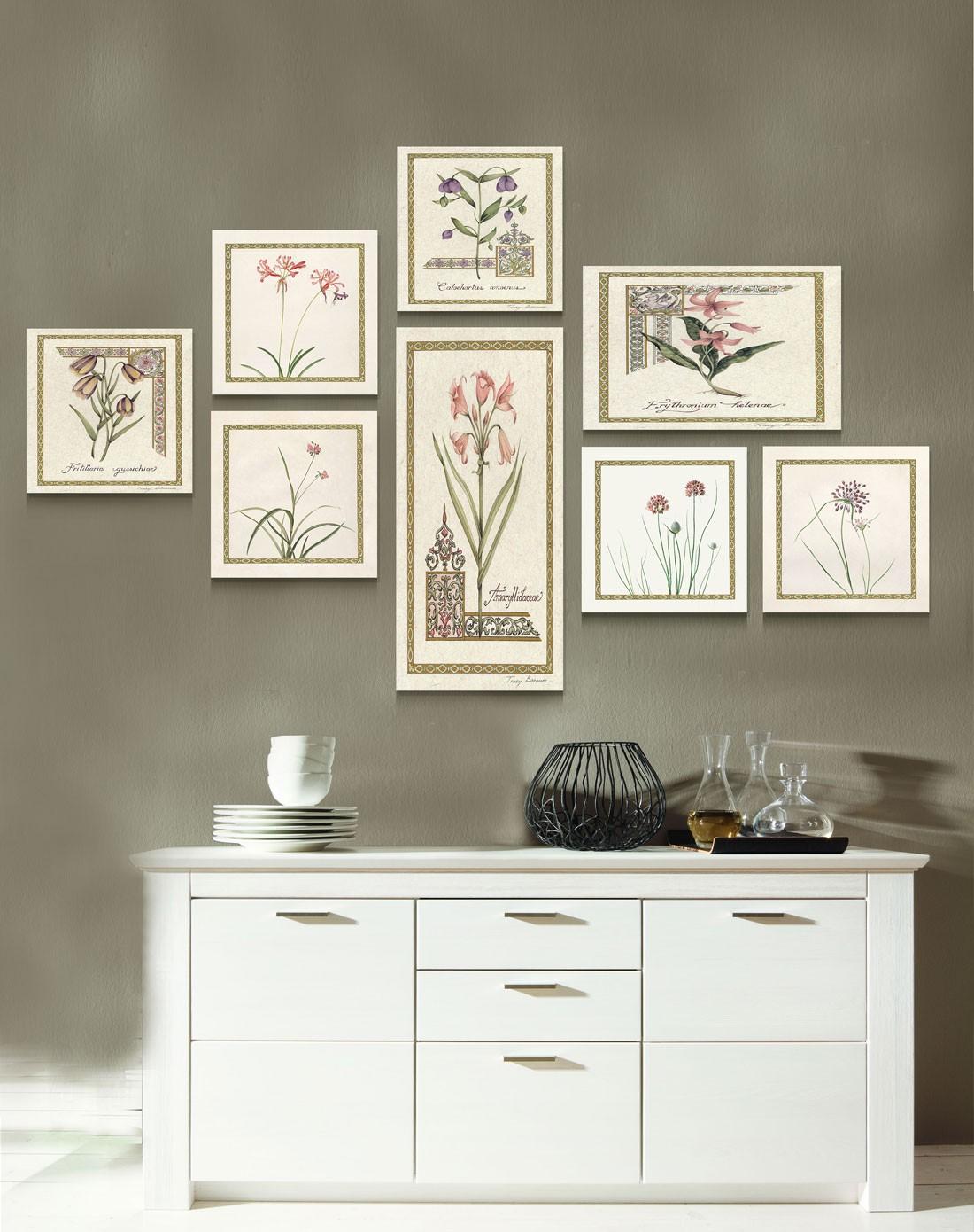 柠檬树家居装饰专场美式田园风创意组合画 田园花卉wp