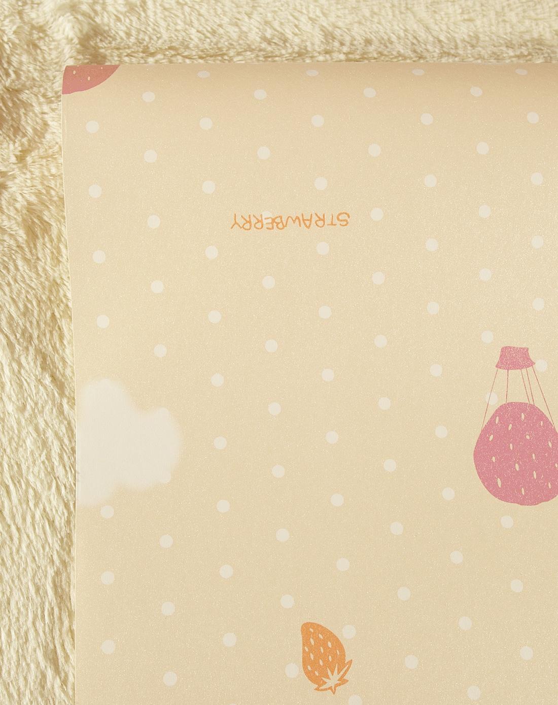 纸尚美学墙纸专场米黄色水果气球珠光底纹无纺布壁纸