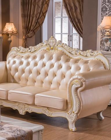 凯哲家具专场欧式实木真皮沙发