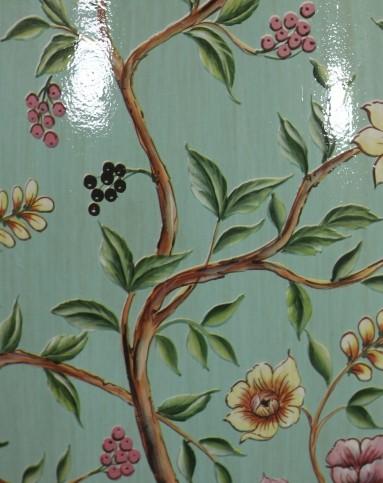 处堂燕鹊 美式换鞋凳手绘花鸟陶瓷鼓凳