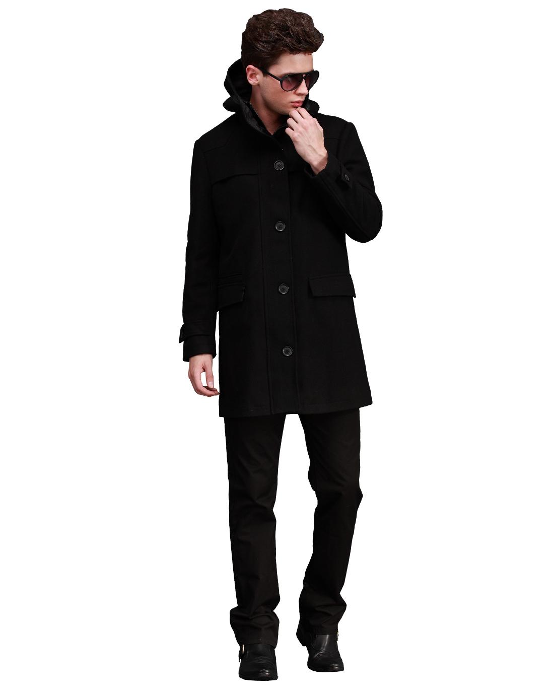 黑风衣的男_风衣男