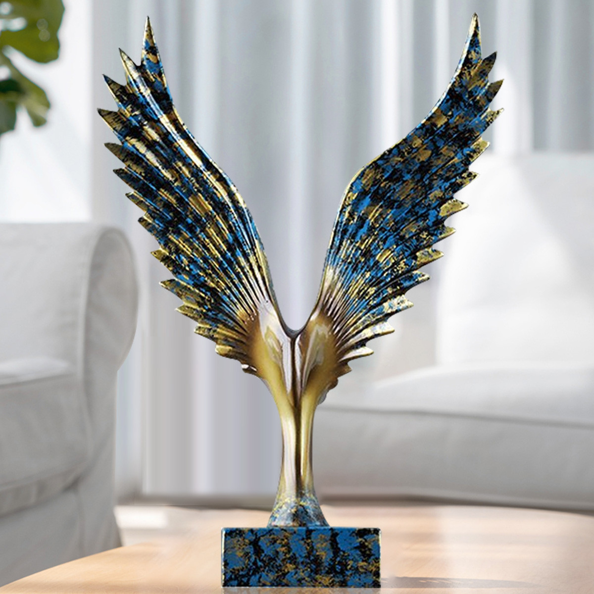 新年大展鸿图,LEMONTREE柠檬树 大鹏展翅 创意个性摆件 23.5x11x31.5cm