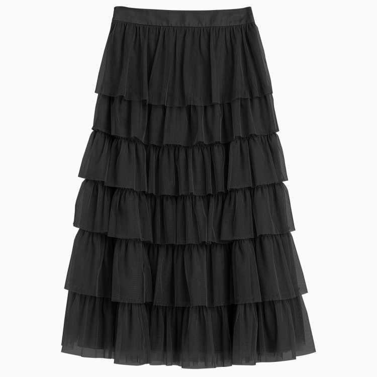 新款中长款多层网纱蛋糕裙显瘦百搭半身裙女