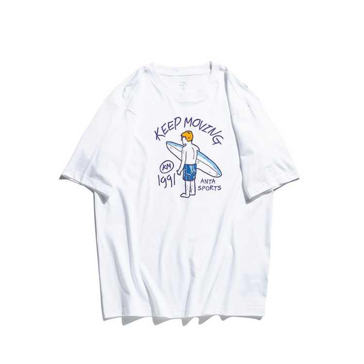 安踏男款运动T恤个性印花透气舒适百搭短袖