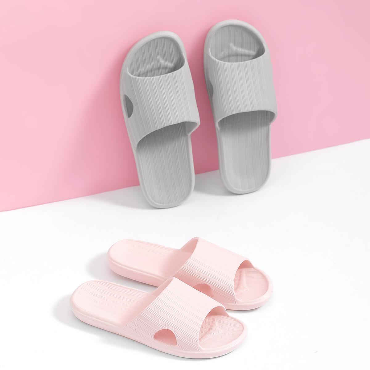 简约絮纹凉拖鞋柔韧加厚软底浴室拖家居拖鞋防滑浴室拖鞋