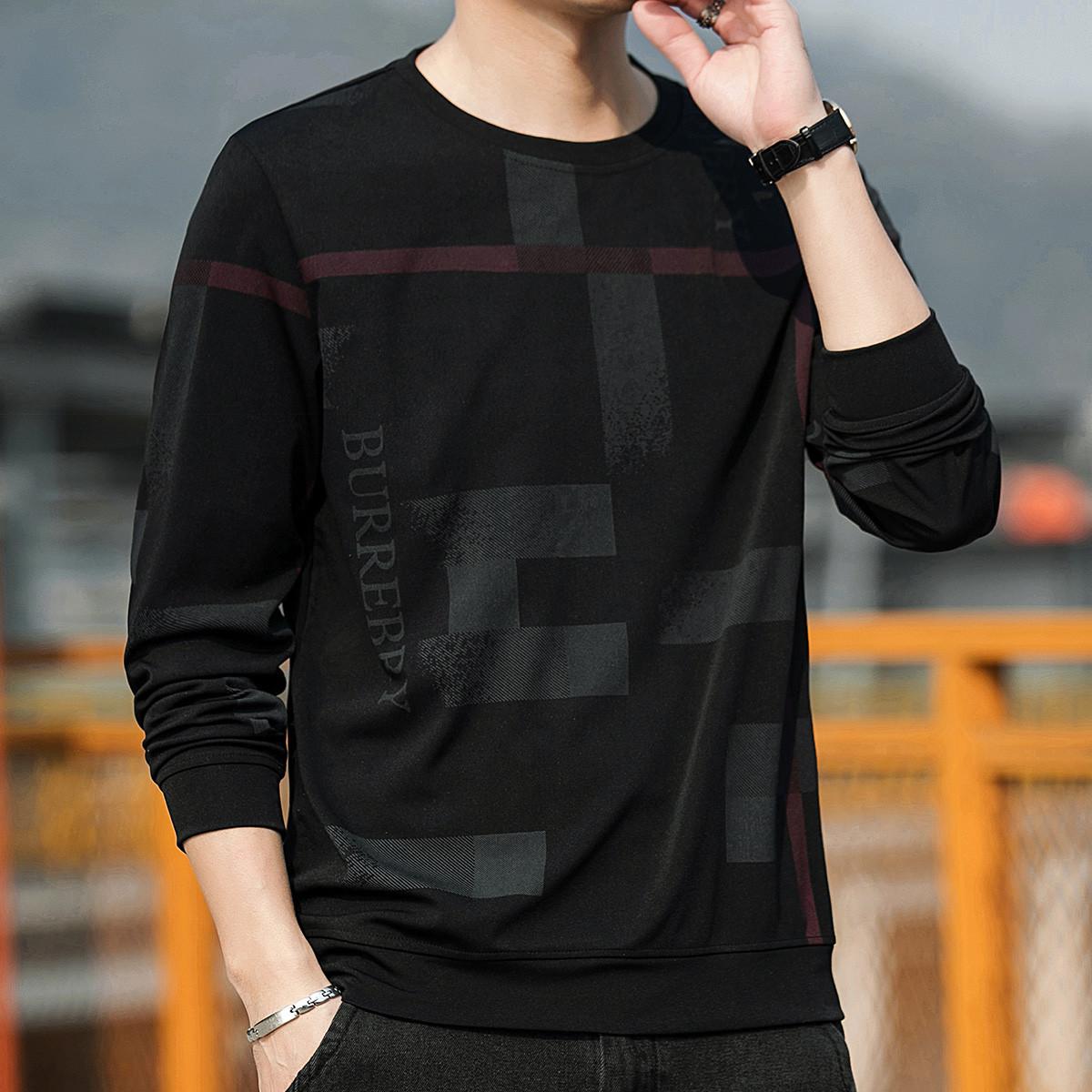 【时尚印花】新款圆领套头衫宽松休闲潮流印花帅气百搭男士卫衣