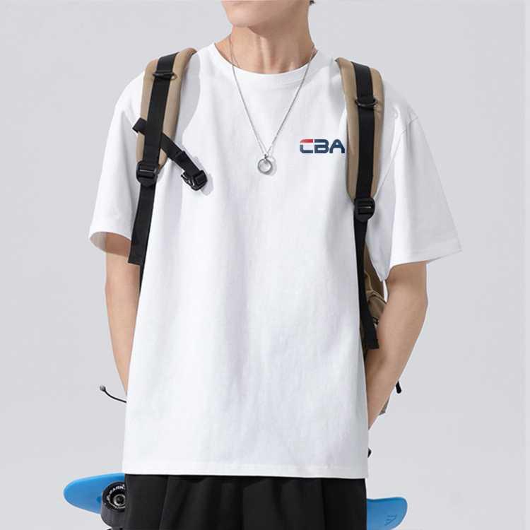 【纯棉面料】运动国潮牌短袖宽松t恤男半袖体恤夏季打底衫圆领丅
