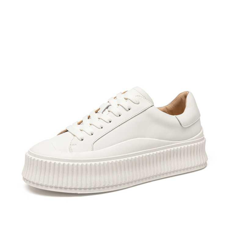 厚底增高饼干鞋女2021新款网红女运鞋百搭松糕板鞋爆款小白鞋