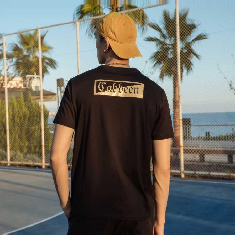 2021年春夏男女同款短袖男式T恤印金logo套头T恤男