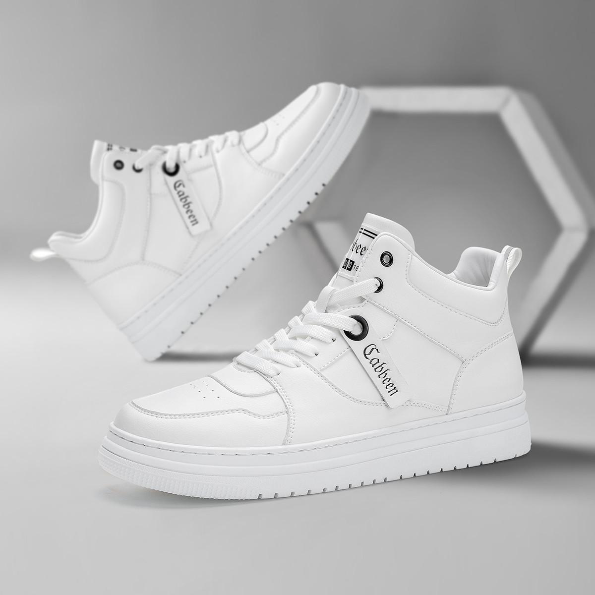 2020新款时尚吊饰板鞋个性潮流透气百搭耐磨防滑高帮休闲鞋