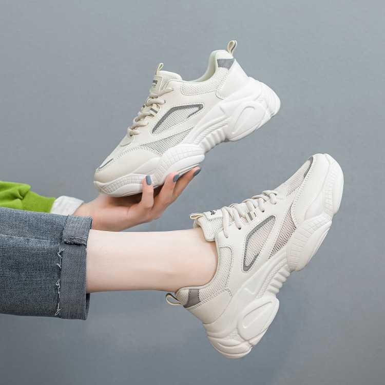 21年夏季新款时尚舒适老爹鞋厚底增高女休闲鞋女运动鞋跑步女鞋