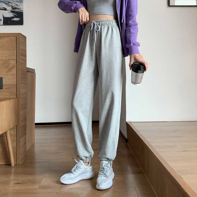 【妻子的浪漫旅行推荐】拉夏贝尔旗下宽松束脚卫裤女运动风休闲裤