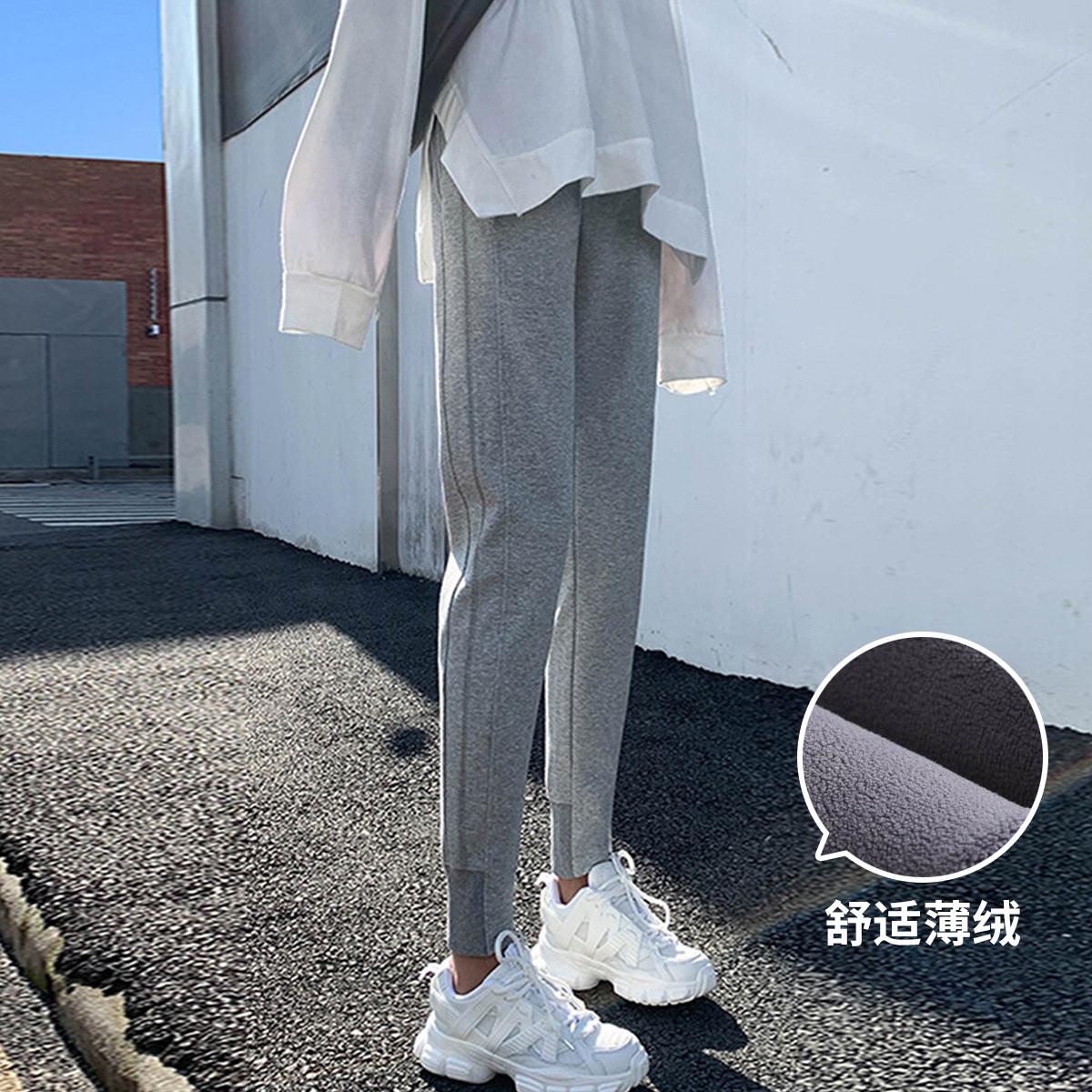 【爆款】运动裤女长裤宽松束脚百搭显瘦春季薄绒休闲卫裤长裤