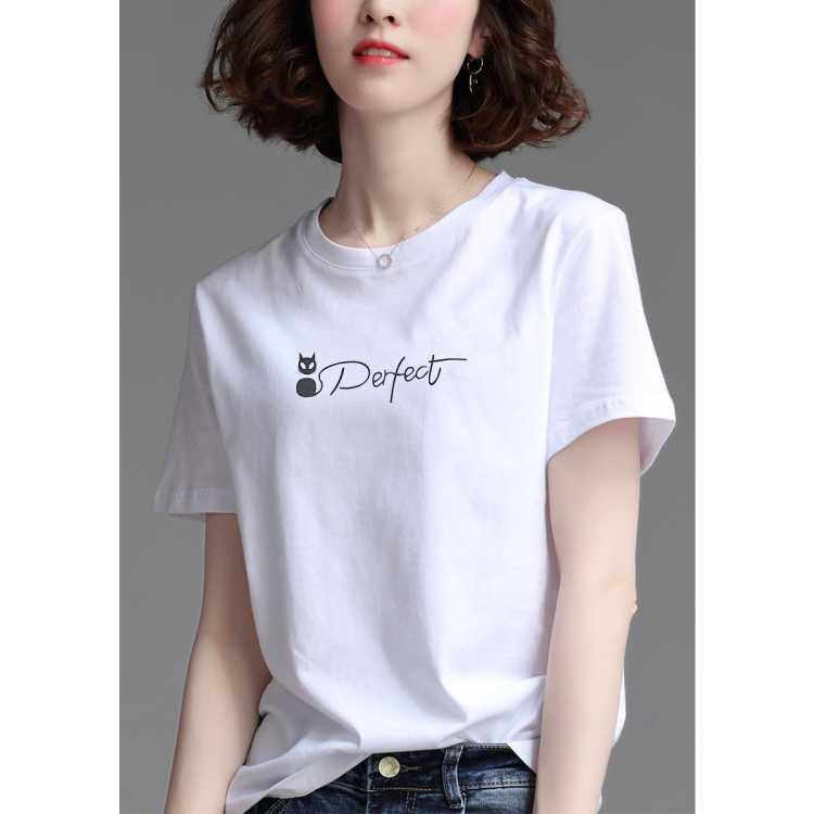【纯棉舒适短袖t恤】拉夏贝尔旗下2021夏季新款时尚女式T恤